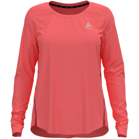 Odlo Zeroweight Chill-Tec T-Shirt L/S Crew Neck Women, rojo